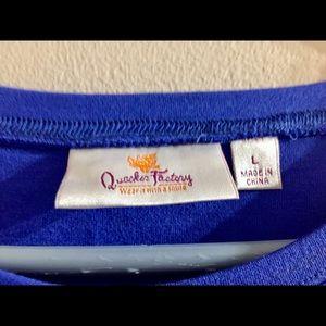 Quacker Factory Tops - Quacker Factory Size Large Paw Prints Shirt🐾👕